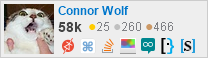 profile for Connor Wolf on Stack Exchange, a network of free, community-driven Q&A sites