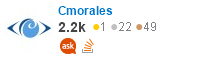 profile for Cmorales on Stack Exchange, a network of free, community-driven Q&A sites
